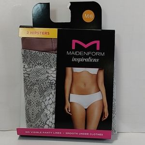 Maidenform Inspirations Sz M/ 6 Hipsters 2 pk